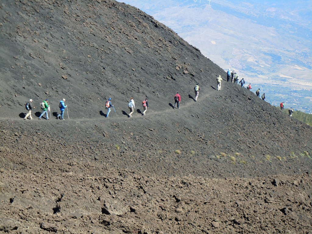 Sul vulcano Etna