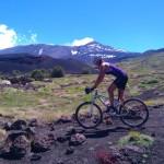 In bici sull'Etna